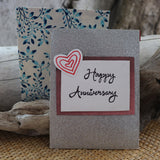 Handmade Celebrations Card - Happy Anniversary Greeting Card