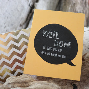 Handmade Celebrations Card - Well Done - Congratulations Greeting Card