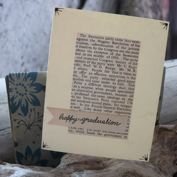 Handmade Celebrations Card - Happy Graduation Greeting Card