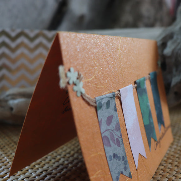 Handmade Celebrations Card - Congratulations Greeting Card