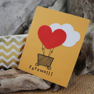 Handmade Corporate card - Farewell greeting card 1