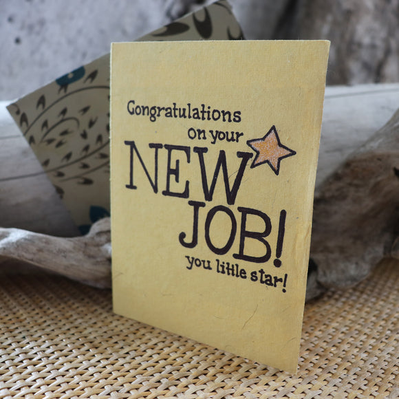 Handmade Corporate card - New Job greeting card 2