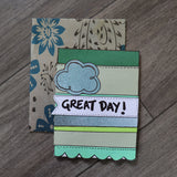 Handmade Corporate card - Great Day & Goodbye greeting card 4