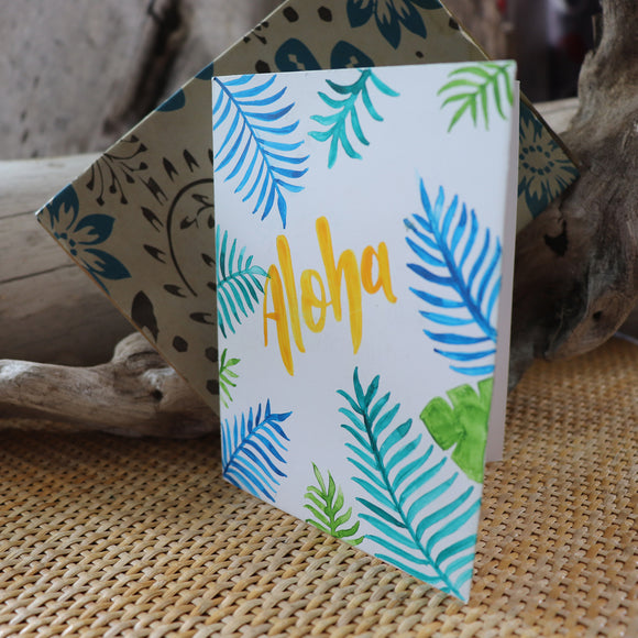 Handmade Corporate card - Aloha greeting card 5