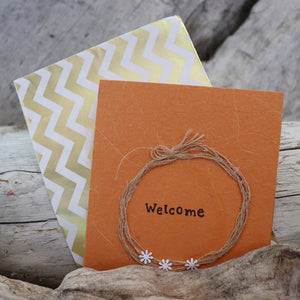 Handmade Expressions card - Welcome greeting card 2