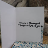 Handmade Expressions card - You Are A Gem - Thank You greeting card 8
