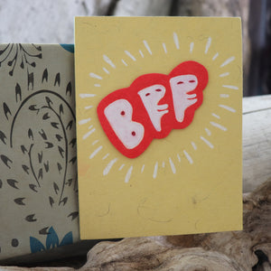 Handmade Expressions card - Best Friends Forever greeting card 17