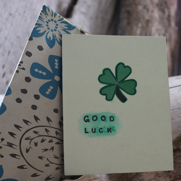 Handmade Expressions card - Good Luck greeting card 18