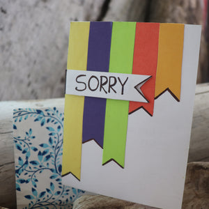 Handmade Expressions card - I Am Sorry greeting card 9