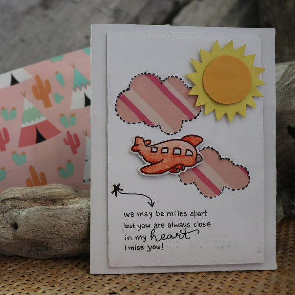 Handmade Feelings card - I Miss You greeting card