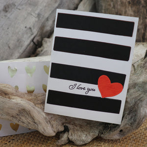 Handmade Feelings card - Kiss You greeting card