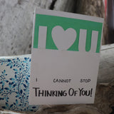 Handmade Feelings card - I Love You greeting card