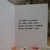 Handmade Relationships card for Brother - Your Role model