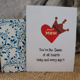 Handmade Relationships cards for Mom - Queen Mother
