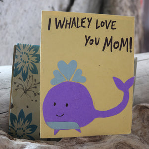 Handmade Relationships card for Mom - Whaley love for Mom