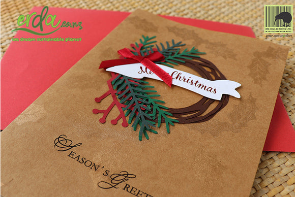 Handmade Handcrafted Christmas Halo Paper Christmas Greeting Cards