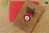 Handmade Handcrafted Christmas Bells Paper Christmas Greeting Cards