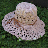Crochet Straw Hats - Pink