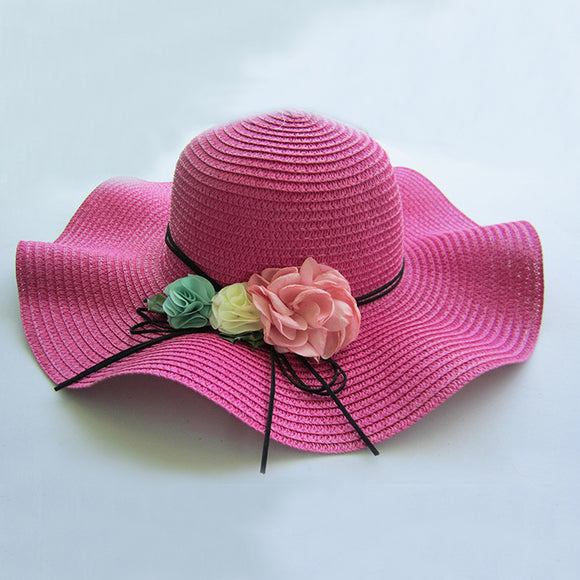 Sensational Straw Hats - Hot Pink