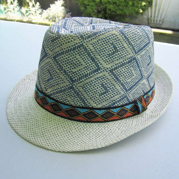 Men Straw Hat - Cream
