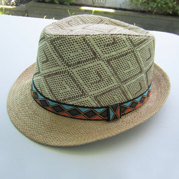 Men Straw Hat - Beige 02