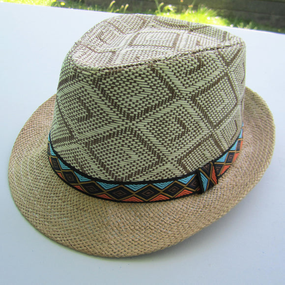 Men Straw Hat - Khakhi
