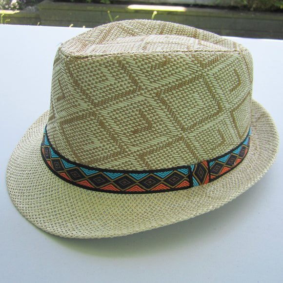 Men Straw Hat - Beige 01