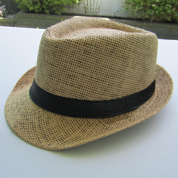 Men Cowboy Straw Hat - Khakhi