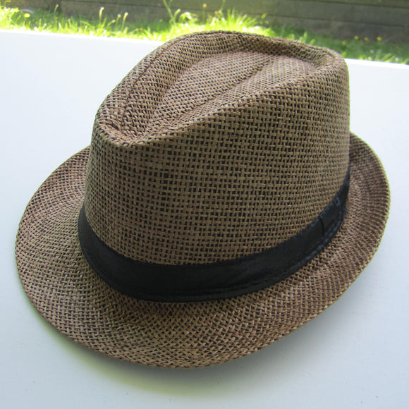 Men Cowboy Straw Hat - Coffee
