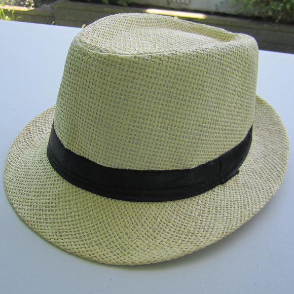 Men Cowboy Straw Hat - Beige
