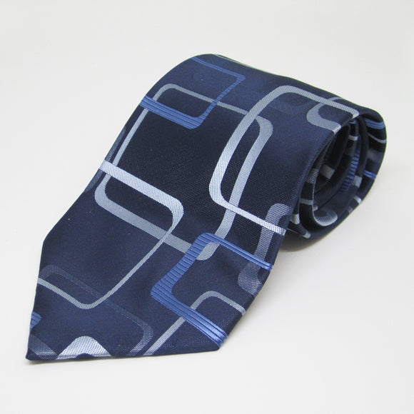Blue self Opal design - Men Neck Tie