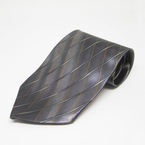 Dark steel expanded checkered design - Men Neck Tie