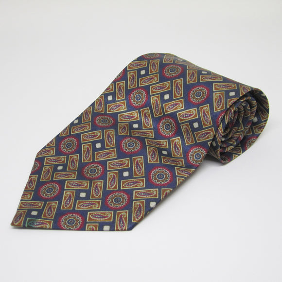 Dark base with square design - Men Neck Tie