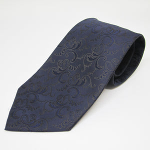Dark Blue Self design - Men Neck Tie
