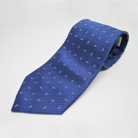 Light Blue Horizontal Vertical design - Men Neck Tie