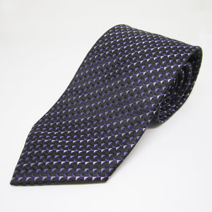 Dark Blue base with Flying Triangles - Men Neck Tie