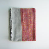 Pashmina - Grey with self patterned dark Pink border Stole