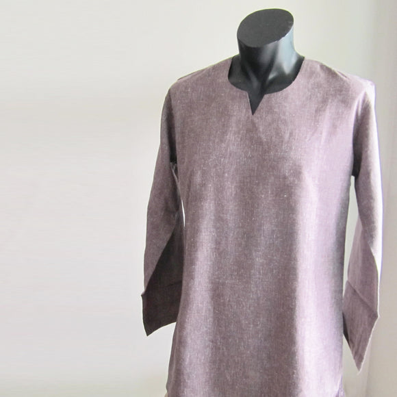 Dark Purple full sleeve 100% cotton summer shirts