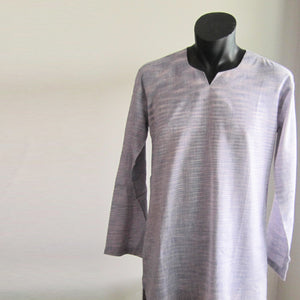 Mauve full sleeve 100% cotton summer shirts