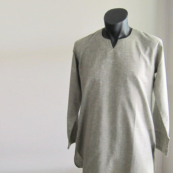 Murky Green full sleeve 100% cotton summer shirts