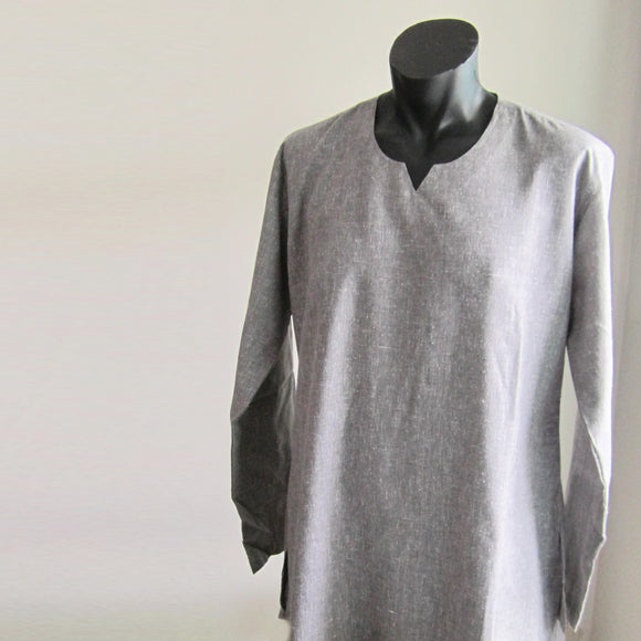 Dark Grey full sleeve 100% cotton summer shirts