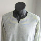 Green and Yellow pattern full sleeve 100% cotton summer shirts