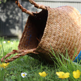 Seagrass Straw Baskets - SKY BLUE