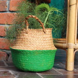 Seagrass Straw Baskets - PALE GREEN