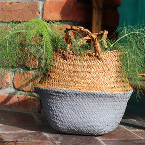 Seagrass Straw Baskets - GREY