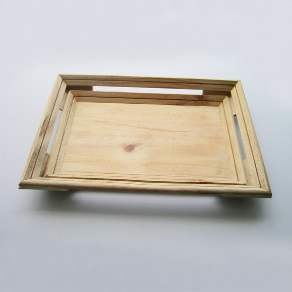 Rectangle Classic Wooden Tray