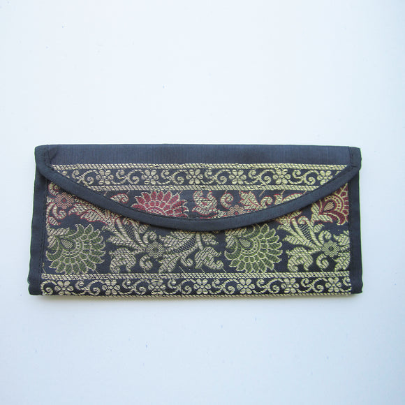 Ethnic Wallet - Black & Golden embroidery