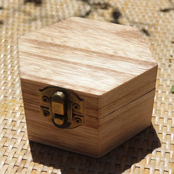 Hexagon Classic Cedar Finish Wooden Gift Box