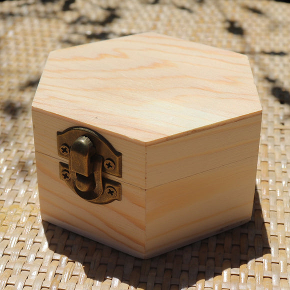Hexagon Classic Teak Finish Wooden Gift Box