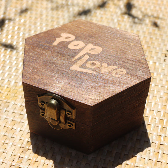 Hexagon Dark Rosewood Pop Love Wooden Gift Box